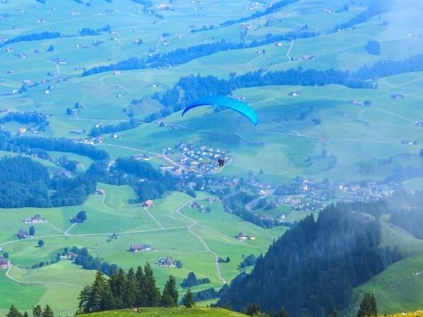 Paragliding from Ebenalp