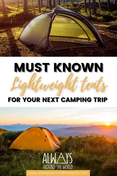 Lightweight backpacking tent