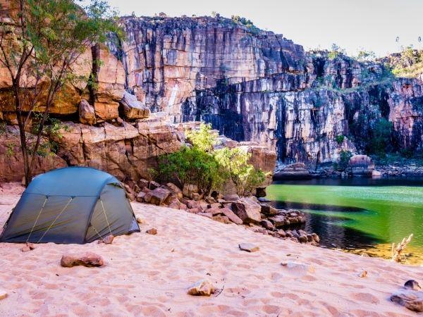 Sand camping in Australia