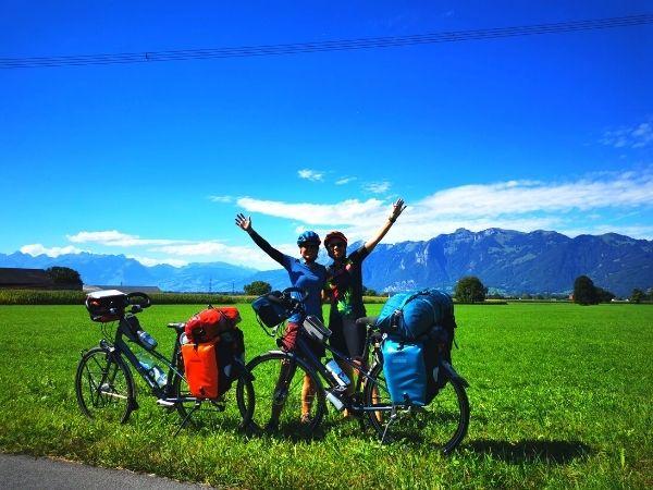 Swiss bike touring