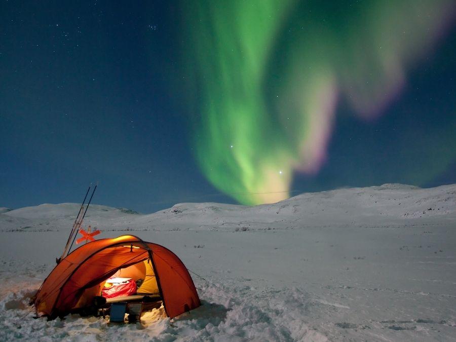 Wild Camping Lapland - Artic