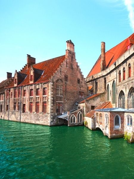 Bruges Belgium by train from Amsterdam