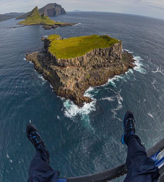 Hiking Faroe Islands Heli Drop