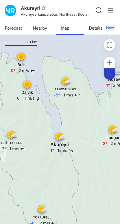 Iceland Camping Weather app