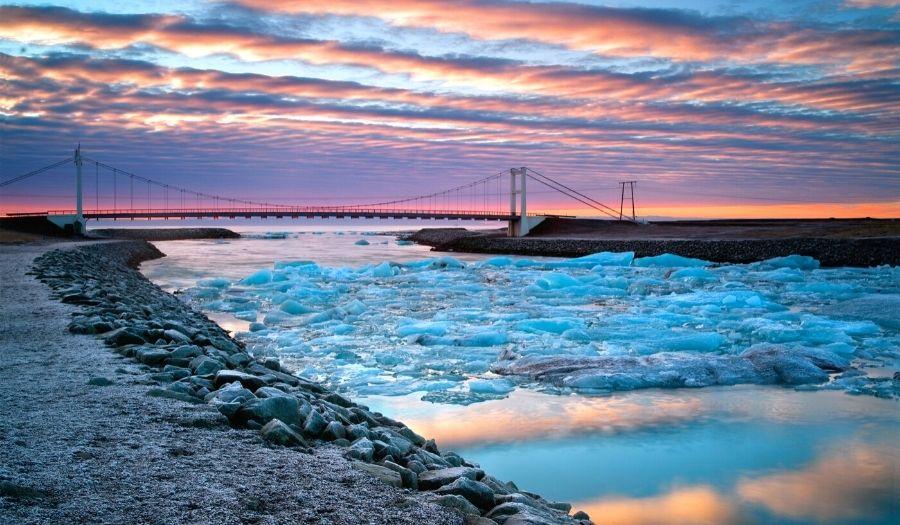 Jokulsarlon Bridge Iceland