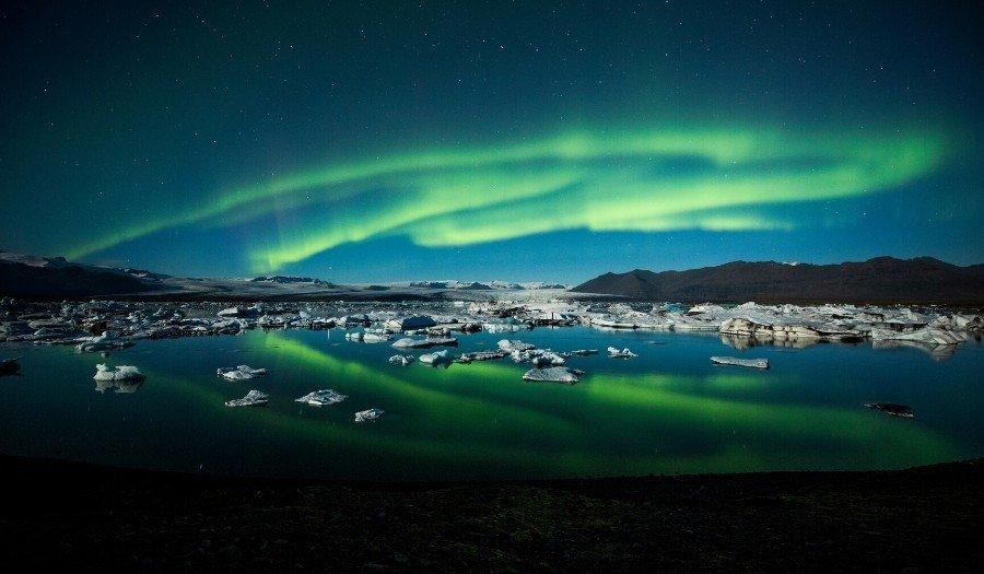 Northern Lights Jokulsarlon