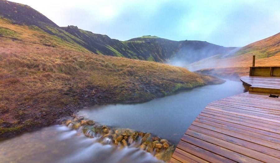 Reykjadalur hot springs - Iceland