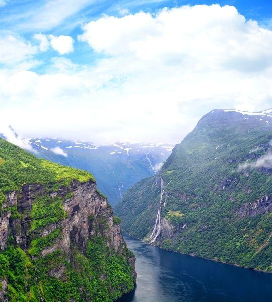 Seven Sisters Waterfall - Norway Fjords