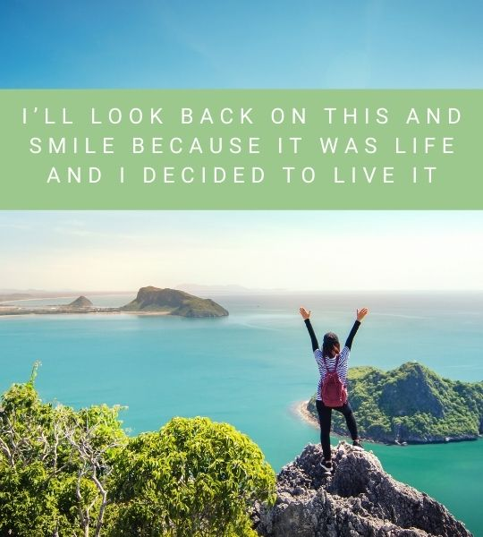 Smile Back - Travel Quote