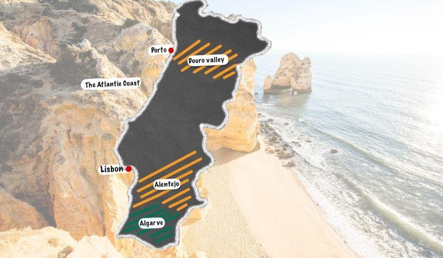 Map Portugal Areas Biking