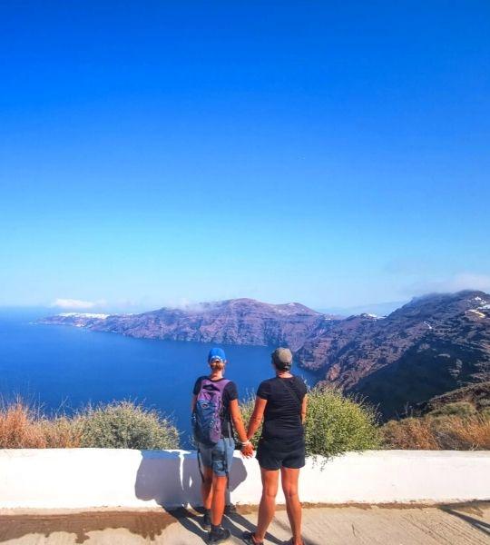 Hike Fira - Oia Santorini Greece