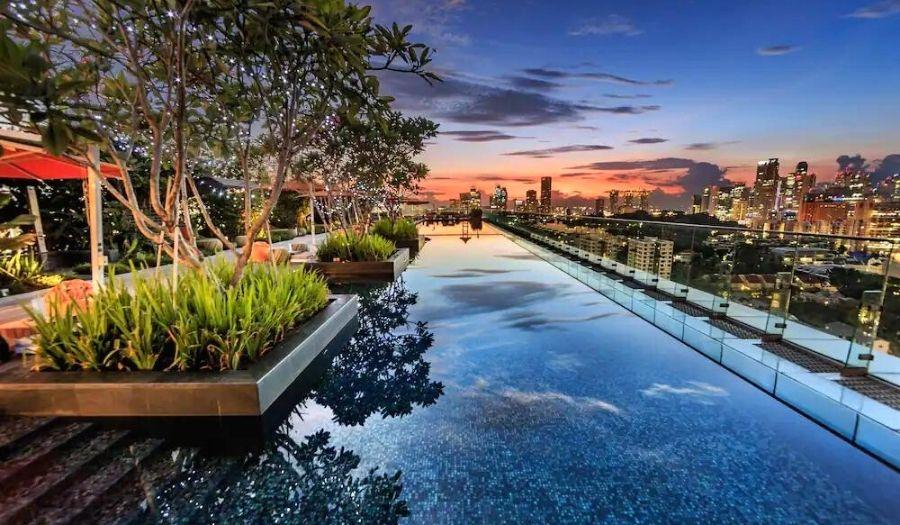 Hotel Jen Orchardgateway Infinity Pool Singapore
