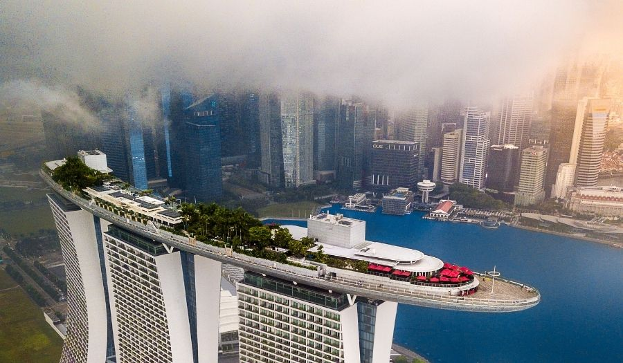 Marina Bay Sands Skypark Singapore Skyline