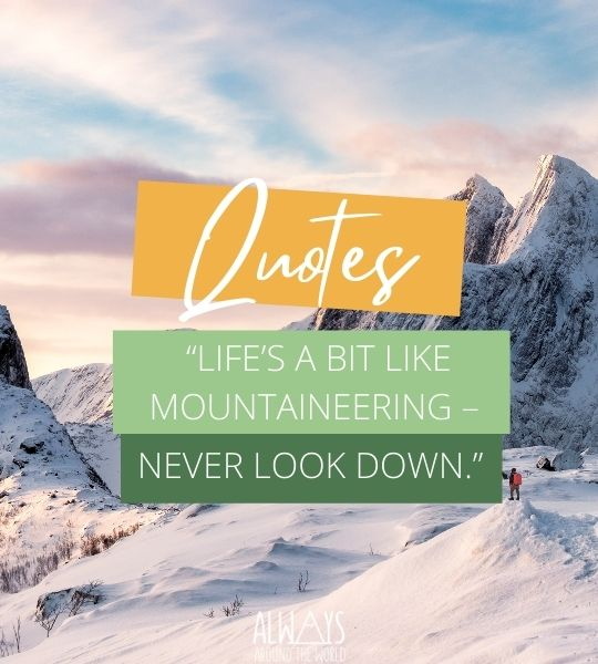 Mountain Inspiration Quotes