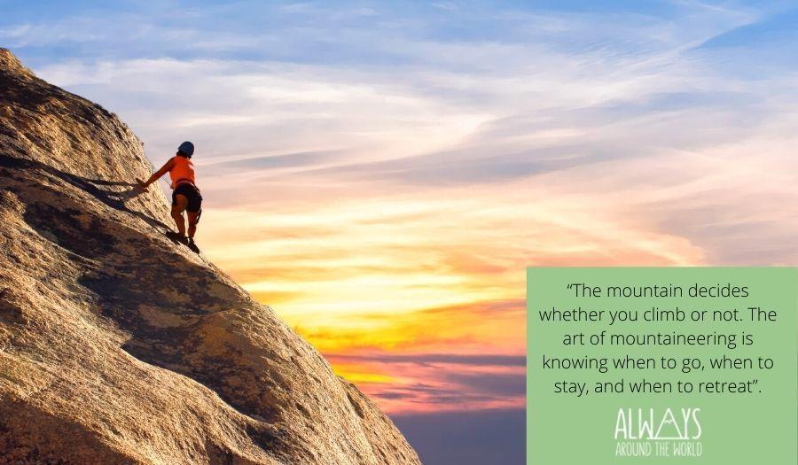 Mountain Quote Climbing
