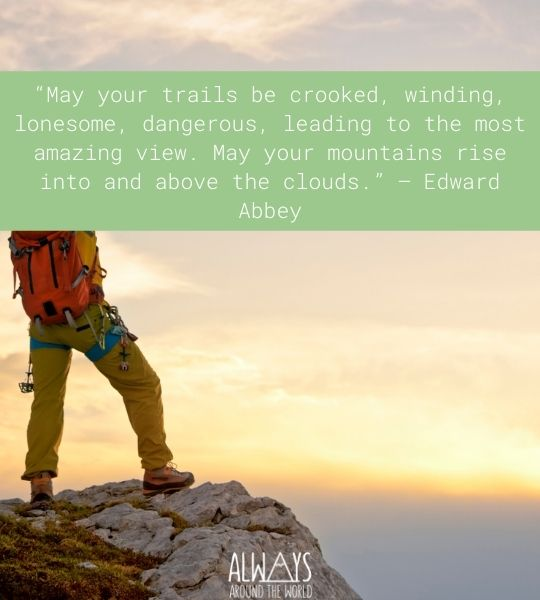 Quote Hiking Mountains