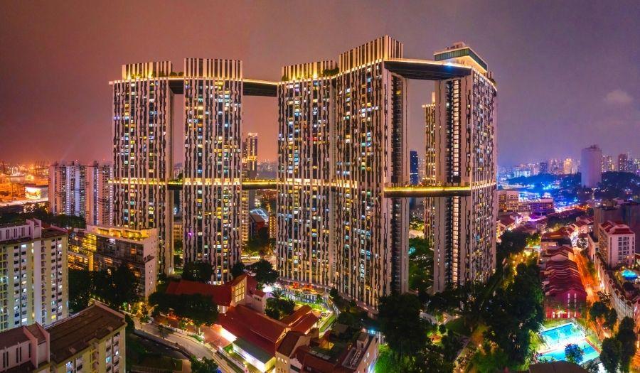 The Pinnacle @ Duxton Singapore Skyline