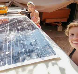 Australia travel budget solar panel car